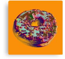 Donut Pop art print Canvas Print