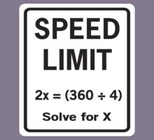 Speed Limit Math Equation by trends