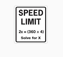Speed Limit Math Equation Unisex T-Shirt