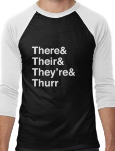 There, Their, They're, and Thurr Men's Baseball ¾ T-Shirt