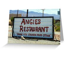 Angie's Restaurant In Fort Hancock...We Should've Stopped Greeting Card