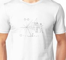 Nasa Pioneer Spacecraft Plaque Unisex T-Shirt