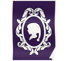 Christmas Card - elf - purple Poster