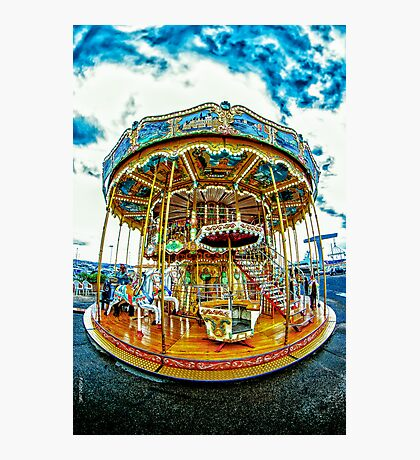 French Carousel Photographic Print