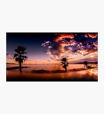 Golfe Juan Sunset Photographic Print