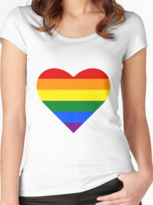 Gay Pride Heart Women's Fitted Scoop T-Shirt