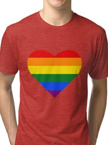Gay Pride Heart Tri-blend T-Shirt