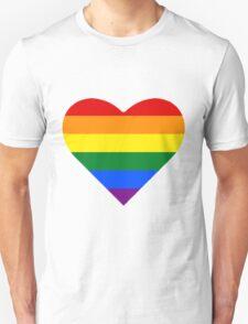 Gay Pride Heart Unisex T-Shirt