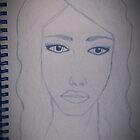 Jessica Sketch B&W by Shanna J. S. Dunlap
