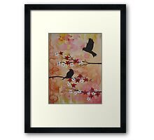 Watercolor and acrylic painting by Australian Artist Catherine Jacobs Framed Print