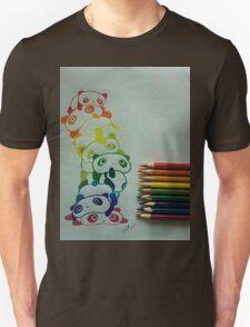Colourful Pandas Unisex T-Shirt