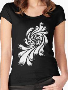 Happy Splash - 1-Bit Oddity - White Version Women's Fitted Scoop T-Shirt