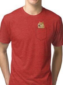 pocket doge Tri-blend T-Shirt