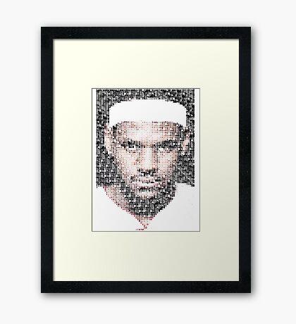 Lebron James Typo - Miami Heat NBA Basketball Framed Print