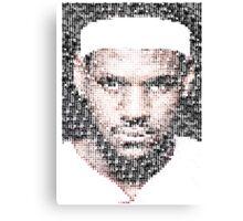 Lebron James Typo - Miami Heat NBA Basketball Canvas Print