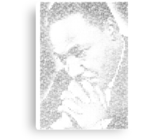 Martin Luther King Jr. - MLK Typographic Metal Print