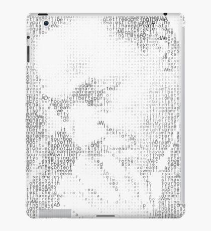 Martin Luther King Jr. - MLK Typographic iPad Case/Skin