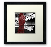 you're all addicted to social media Framed Print