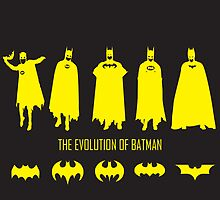 The Evolution of Batman (Posters & Prints) by zblues