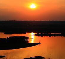 Sunset Over Old Man River by Adam Kuehl