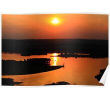 Sunset Over Old Man River Poster
