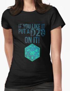 D20 Geeky Awesome Typography Tee & Print T-Shirt