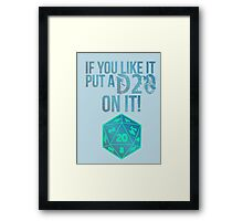 D20 Geeky Awesome Typography Tee & Print Framed Print