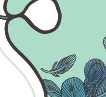 Blue Feather Tattoo Sticker