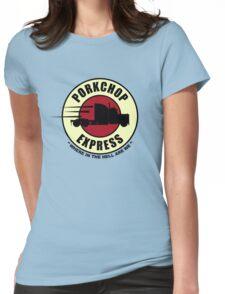 Planet Porkchop Express Womens Fitted T-Shirt