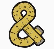 Ampersand Measuring Tape Baby Tee