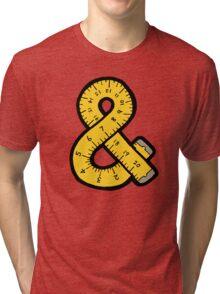Ampersand Measuring Tape Tri-blend T-Shirt