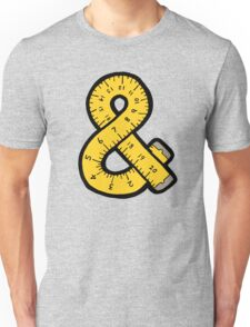 Ampersand Measuring Tape Unisex T-Shirt