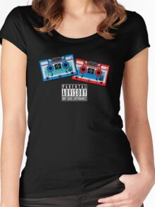 Rumble and Frenzy Mix Tapes 1984-1986 Women's Fitted Scoop T-Shirt