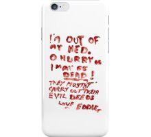 Eddie's Note to Dr. Scott iPhone Case/Skin