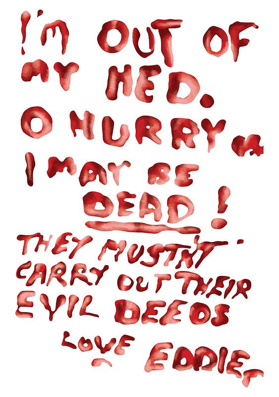 Eddie's Note to Dr. Scott by ShawnHallDesign