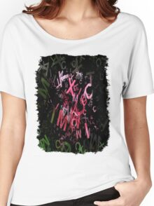 Pink Roses in Anzures 4 Letters 1 Women's Relaxed Fit T-Shirt