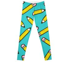 Pencil Power Blue Pattern Leggings