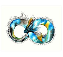 Infinity Dragon Art Print