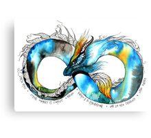 Infinity Dragon Metal Print