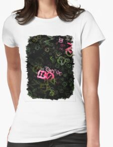 Pink Roses in Anzures 5  Letters 3 Womens Fitted T-Shirt