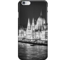 Hungarian Parliament Night BW iPhone Case/Skin