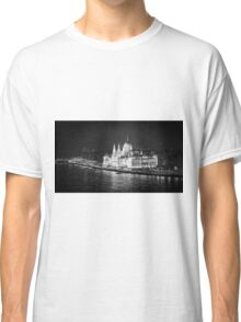 Hungarian Parliament Night BW Classic T-Shirt