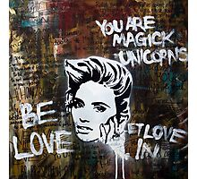 You are magick unicorns. Photographic Print