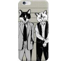 Feline-up - Keaton & Verbal iPhone Case/Skin
