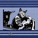 Tom Cat - Blue Stripes by GritFX