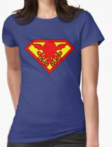 Super Cthulhu Womens Fitted T-Shirt