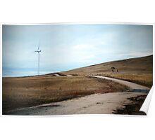 Lone Wind Turbine Poster