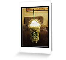 STARBUCKS GRANDE GREEN TEA FRAPPE  Greeting Card