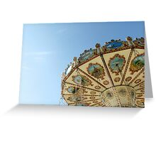 Swing Carousel, Cardiff Bay. Greeting Card