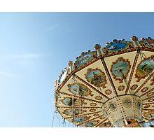 Swing Carousel, Cardiff Bay. Photographic Print
